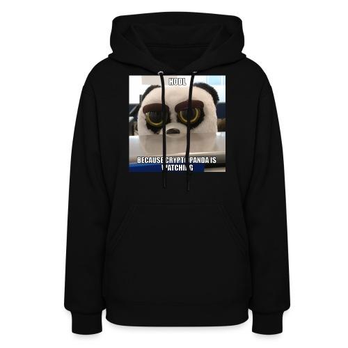Crypto Panda Is Watching - Women's Hoodie