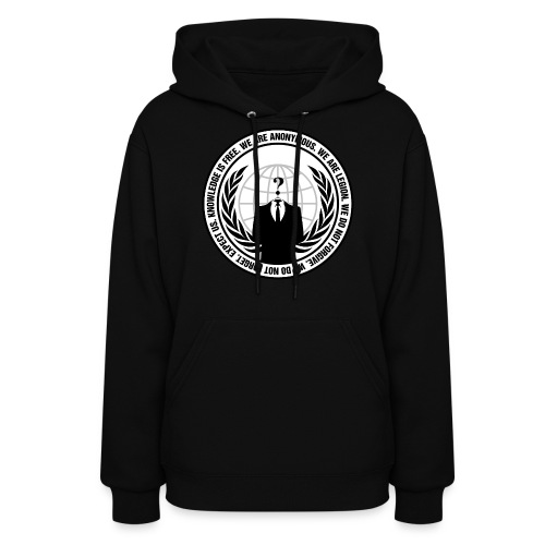 Anonymous Logo With Slogan png - Women's Hoodie