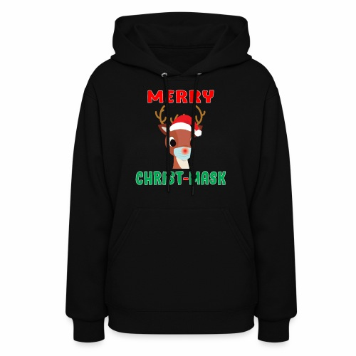 Merry Christmask Rudolph Red Nose Mask Reindeer. - Women's Hoodie