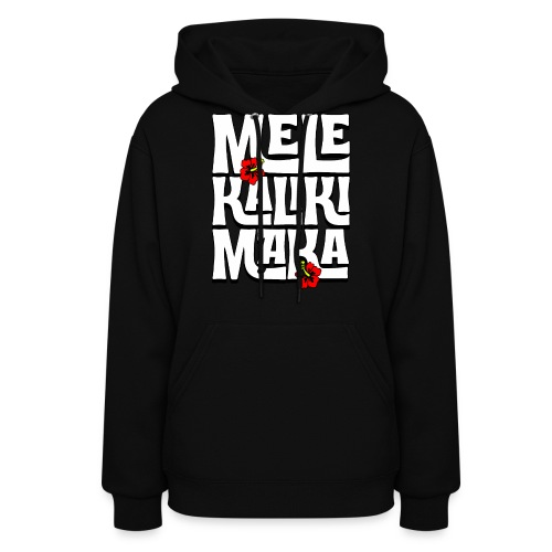 Mele Kalikimaka Hawaiian Christmas Song - Women's Hoodie