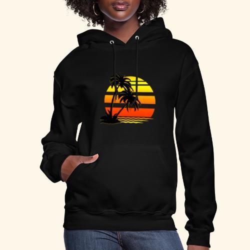 Summer Surfer California Sunset - Women's Hoodie