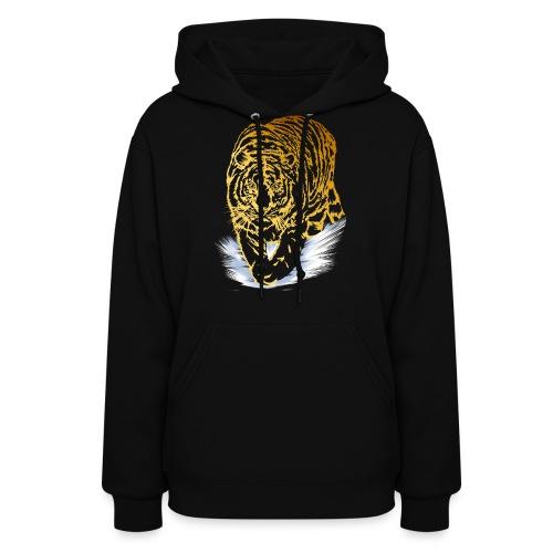 Golden Snow Tiger - Women's Hoodie