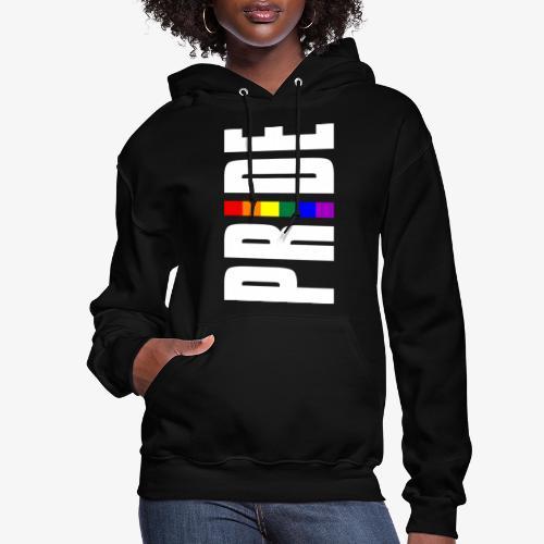 Vertical Pride with LGBTQ Pride Flag - Women's Hoodie