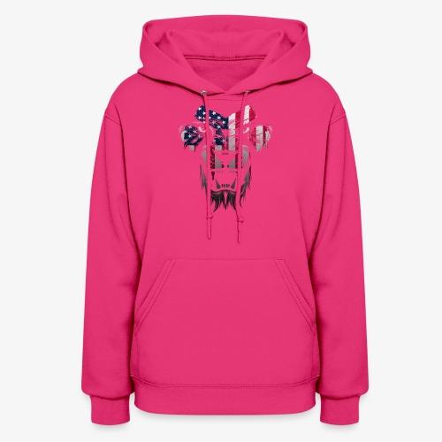 American Flag Lion Shirt - Women's Hoodie