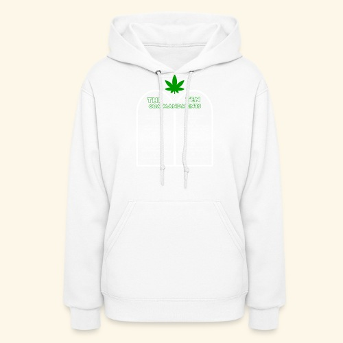 The Ten Commandments of cannabis - Women's Hoodie