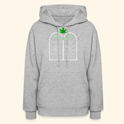 The Ten Commandments of cannabis - Women's Hoodie