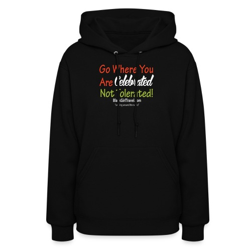 Plain celebrated WhiteText png - Women's Hoodie