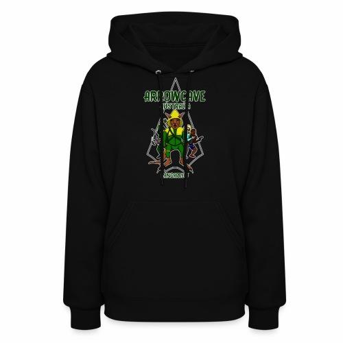Arrow Cave Logo - Dark - Women's Hoodie