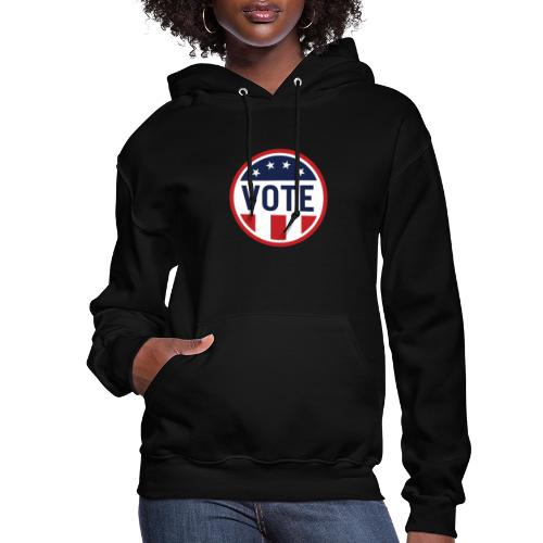 Vote Red White and Blue Stars and Stripes - Women's Hoodie