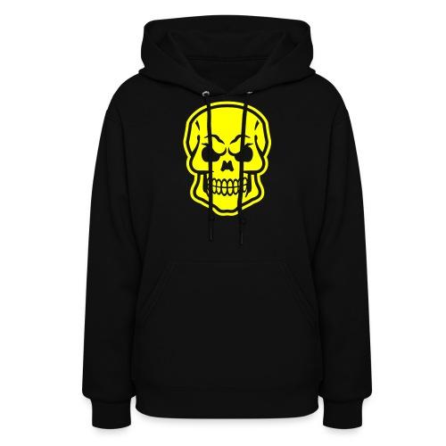 Skull vector yellow - Women's Hoodie