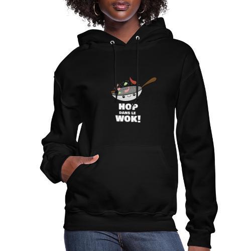 Logo Hop dans le Wok - Molleton à capuche pour femmes