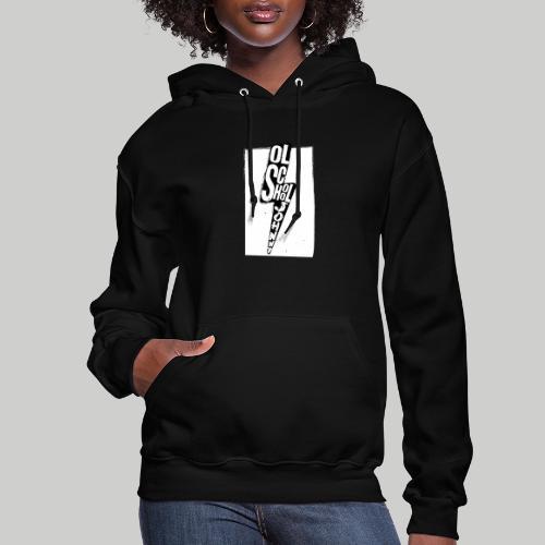 Ol' School Johnny Black and White Lightning Bolt - Women's Hoodie