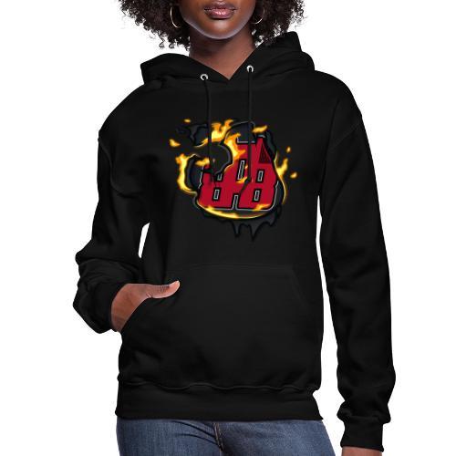 BAB Logo on FIRE! - Women's Hoodie