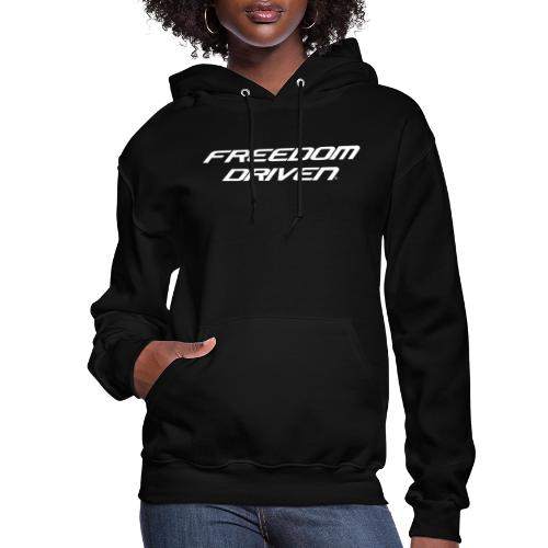 Freedom Driven Official White Lettering - Women's Hoodie