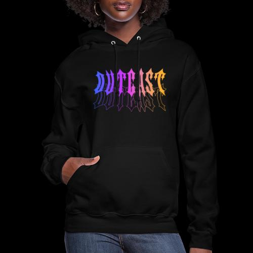 outcast stacked gradient - Women's Hoodie