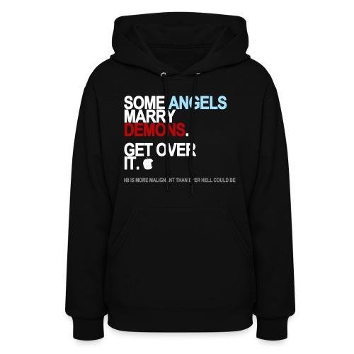 some angels marry demons black shirt - Women's Hoodie