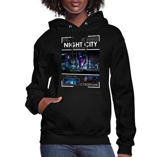 Night City Pacifica Skyline - Women's Hoodie