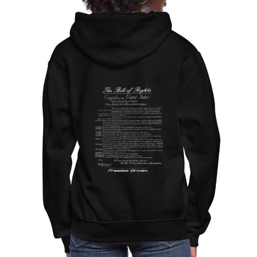 US Bill of Rights Grey Lettering - Women's Hoodie