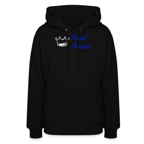 Navy blue Royal Outcast with white logo - Women's Hoodie