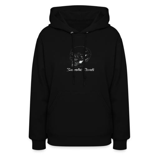 White Skull With Sociopathic Label - Women's Hoodie