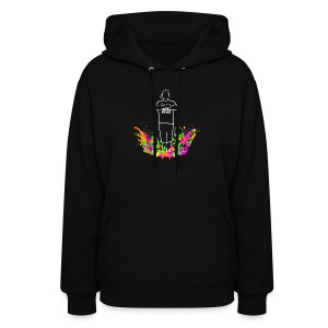Big Swings Man Color Splash Design - Women's Hoodie