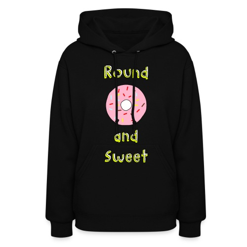 Round and Sweet - Candy Donut Design - Women's Hoodie