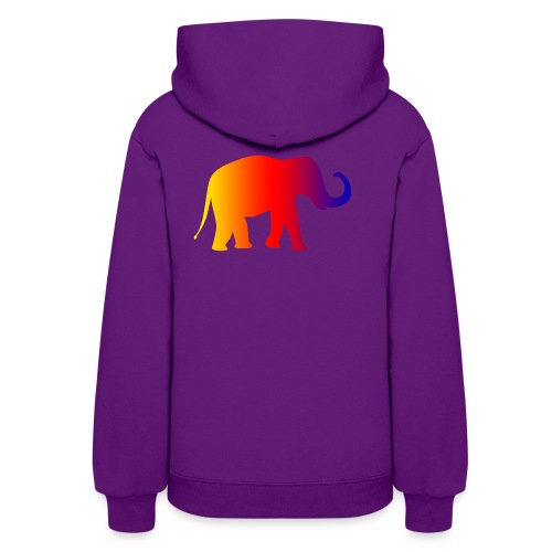 asian elephant color - Women's Hoodie