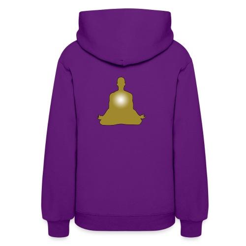 Meditation golden heart - Women's Hoodie