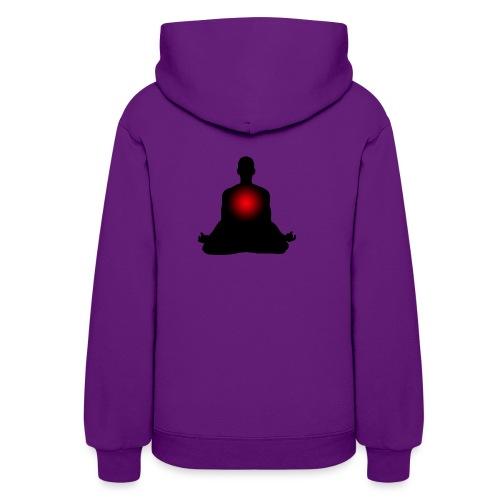 Meditation red heart - Women's Hoodie