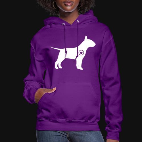 Bull Terrier love - Women's Hoodie