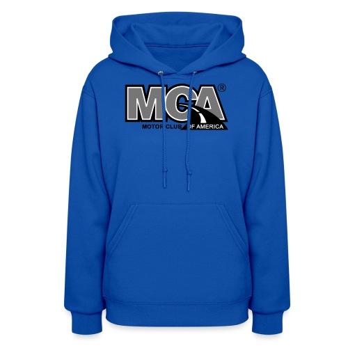 MCA Logo WBG Transparent BLACK WHITE TITLEfw fw pn - Women's Hoodie
