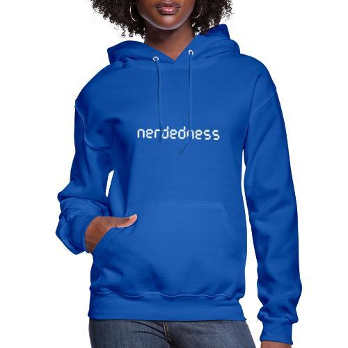 nerdedness segment text logo - Women's Hoodie