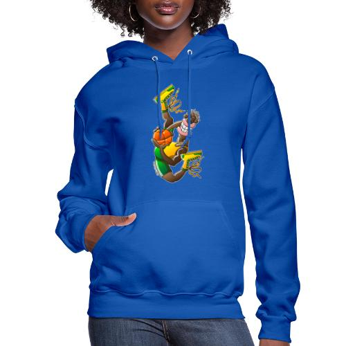 Acrobatic basketball player performing a high jump - Women's Hoodie