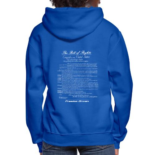 US Bill of Rights White Lettering - Women's Hoodie