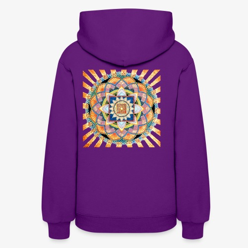 Radiant Light Mandala - Women's Hoodie