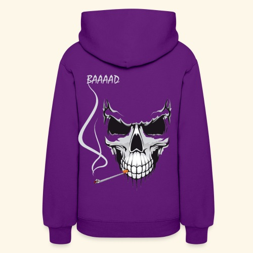 bad smoking skull long sleeve shirts - Women's Hoodie