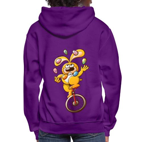 Easter Bunny Juggling Eggs - Women's Hoodie