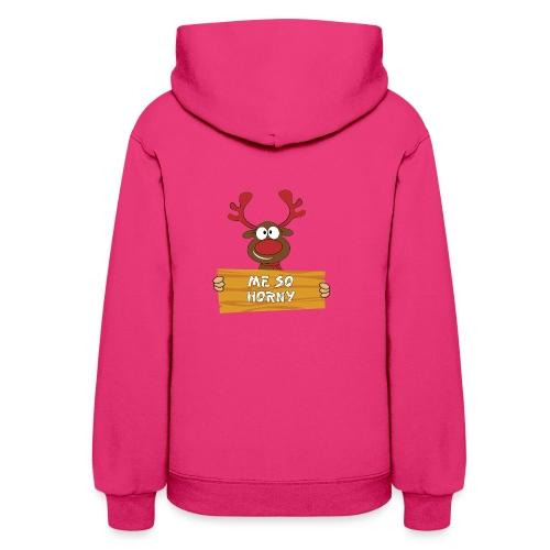 Red Christmas Horny Reindeer 3 - Women's Hoodie