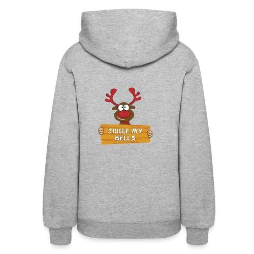 Red Christmas Horny Reindeer 1 - Women's Hoodie