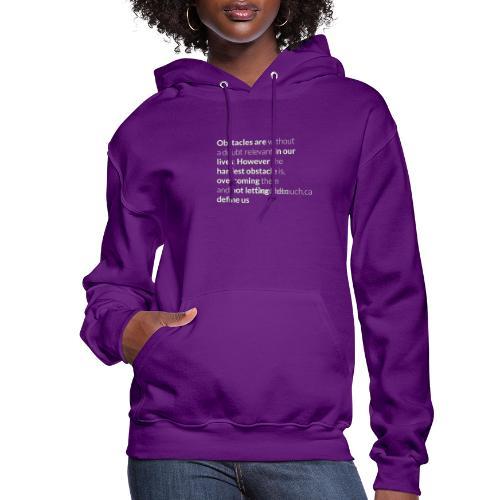 Women: Glow In The Dark Obstacles (Quote) T-Shirt - Women's Hoodie
