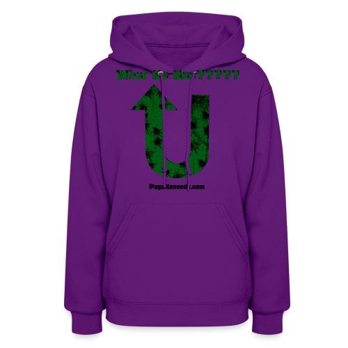 whatup green burl - Women's Hoodie