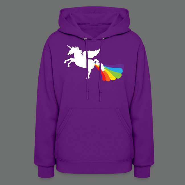 Pegacorn Winged Unicorn Rainbow Lgbt Womens Hoodie Proud To Be Homo