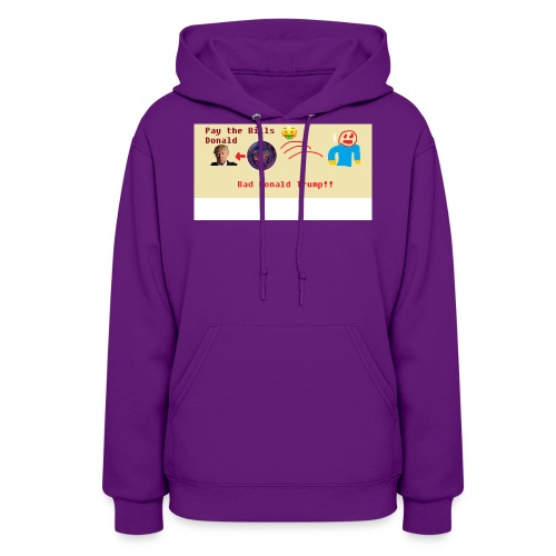 donald trump gets hit with a ball - Women's Hoodie