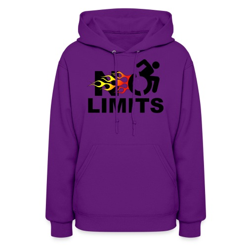 No limits for me with my wheelchair - Women's Hoodie