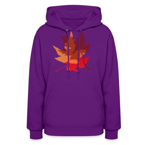 Big Autumn Leaves - Women's Hoodie