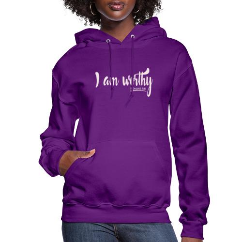 I am worth Romans 5:8 - Women's Hoodie