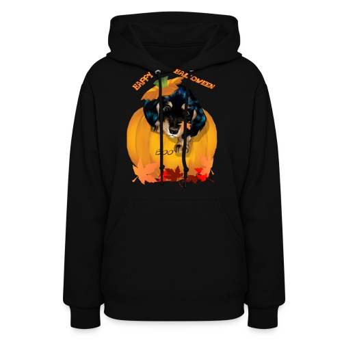 Halloween Dashund Puppy-Boo - Women's Hoodie