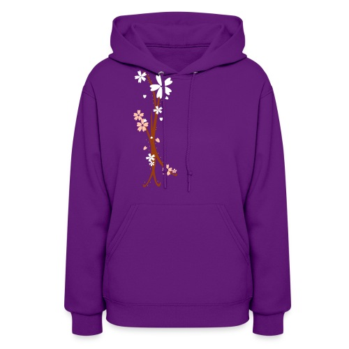 Pink and White Blooms - Women's Hoodie