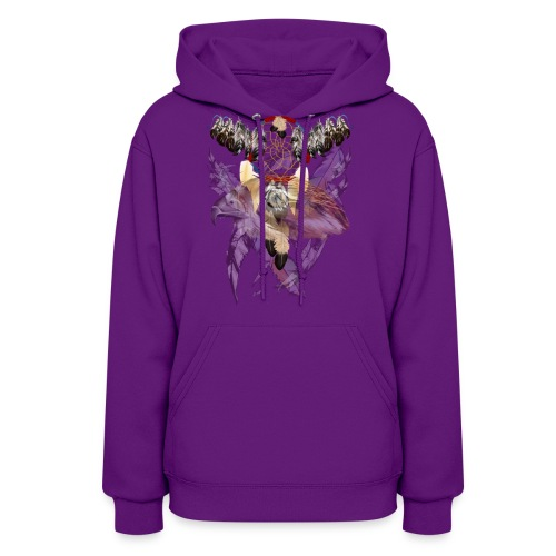 Dream Catcher and Feathers-Hawk Face Shirt - Women's Hoodie