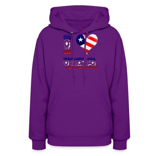 I Love USA - Women's Hoodie